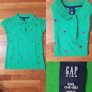 Gap girls 3 button apple polo